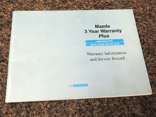 Service book, Mazda MX-5 mk2 NB, 1998, MCAG2164, USED
